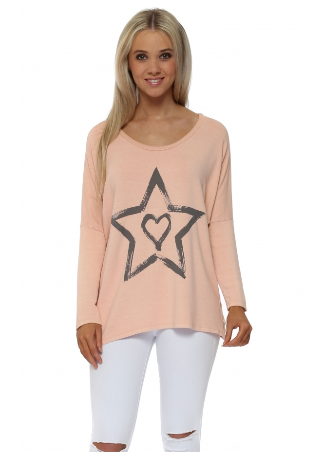A Postcard From Brighton Zippy Starry Heart Sweater In Seduction