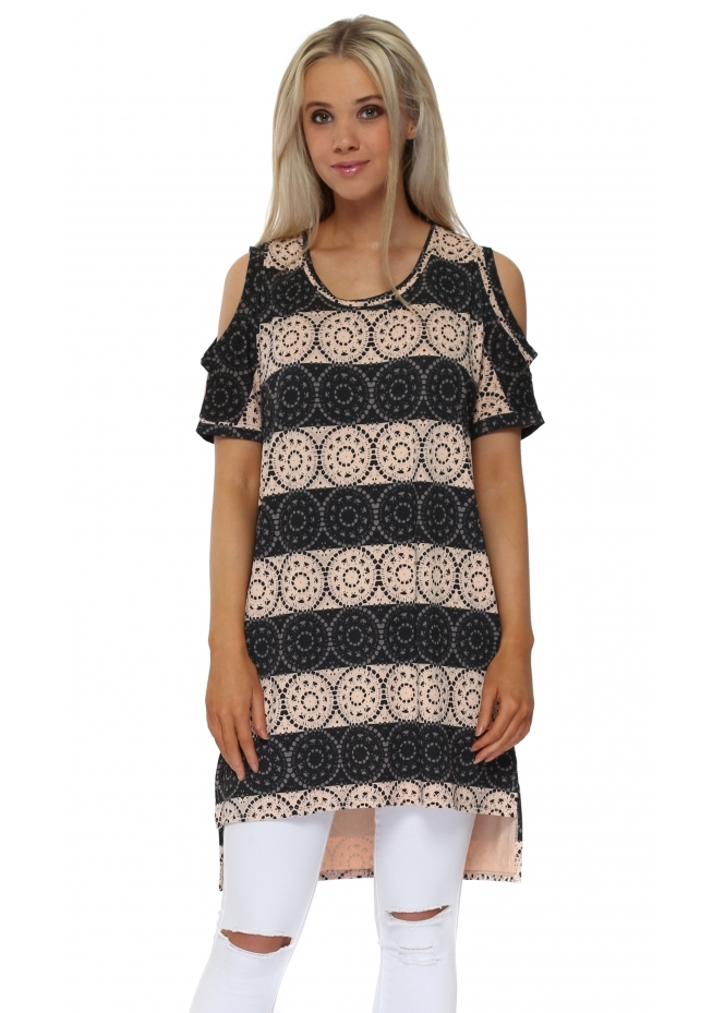 A Postcard From Brighton Lily Love Lace Seduction Shoulder Tunic Top