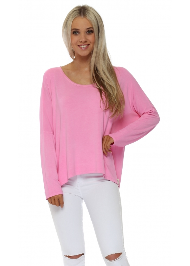 A Postcard From Brighton Karma Long Sleeve Slouch Top In Passionata