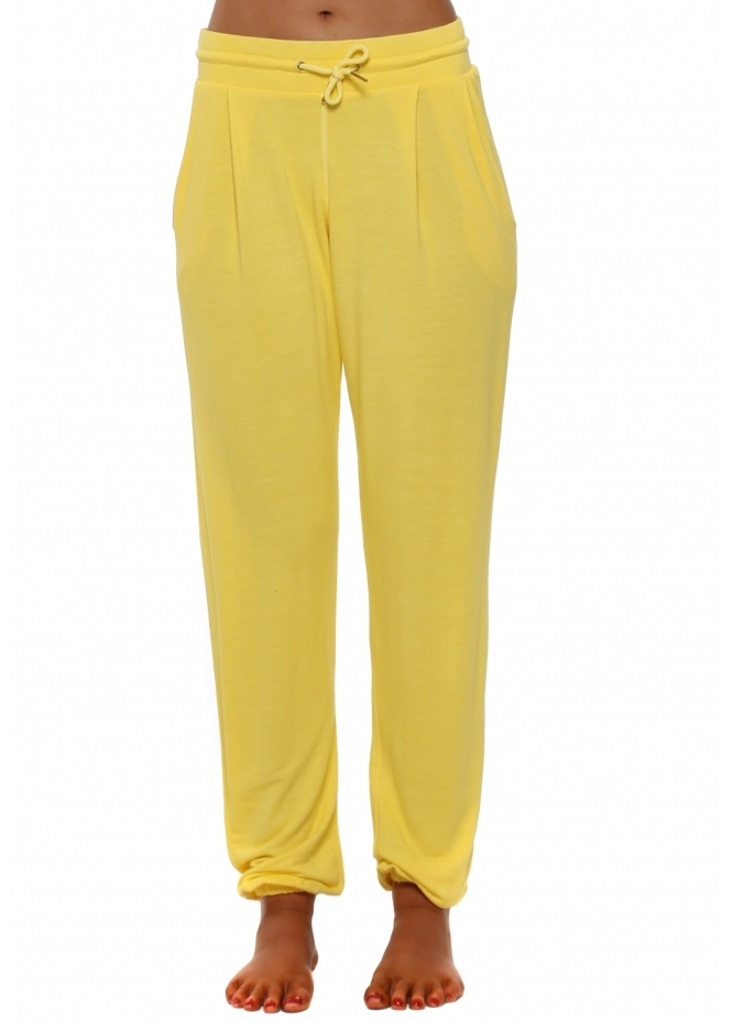 A Postcard From Brighton Valerie Canary Jogger Pants