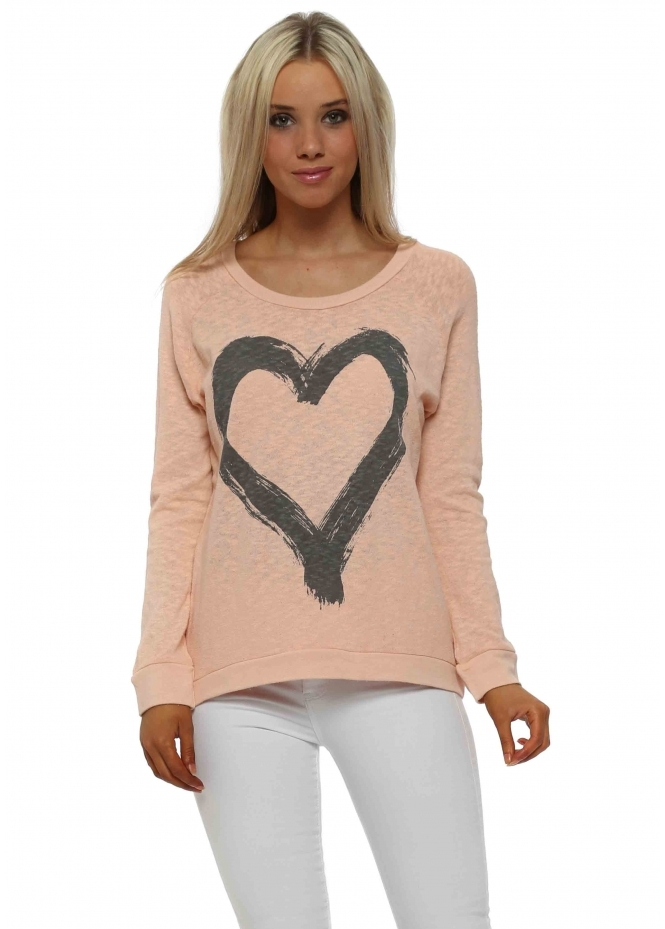 A Postcard From Brighton Renee Seduction Heart Slub Knit Ribs Jumper