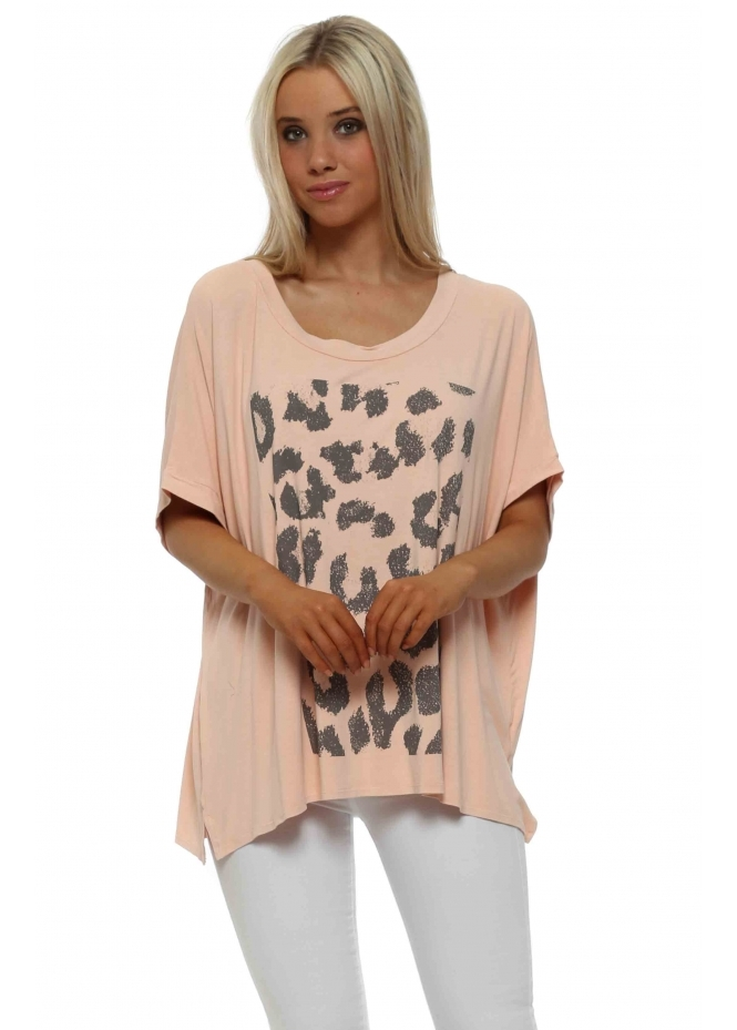 A Postcard From Yoga Animal Print Tunic T Shirt