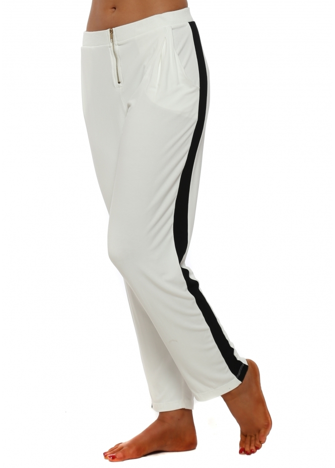 A Postcard From Brighton Vanilla Contrast Zippy Lounge Pants