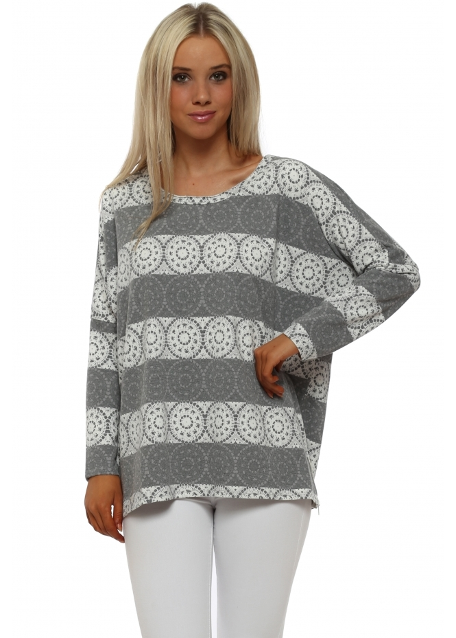 A Postcard From Brighton Lucy Love Lace Vanilla Zip Sweater