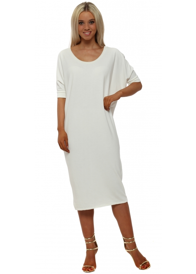 A Postcard From Brighton Callie Vanilla Short Sleeve Tunic Dress
