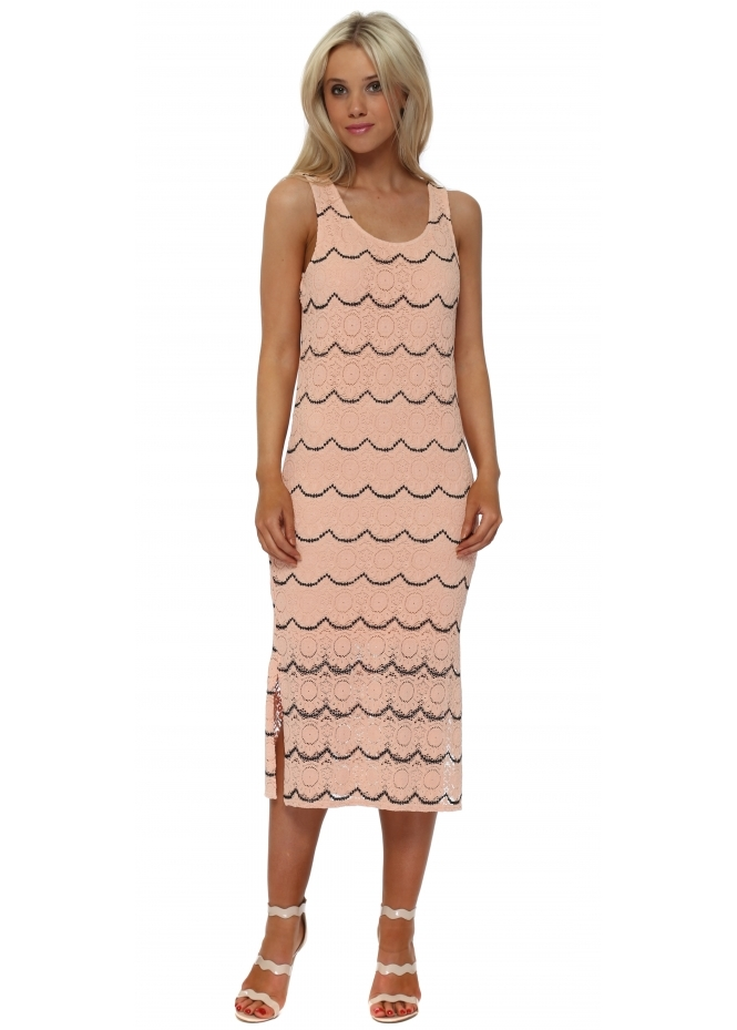 A Postcard From Brighton Maddy Seduction Medallion Lace Pencil Dress