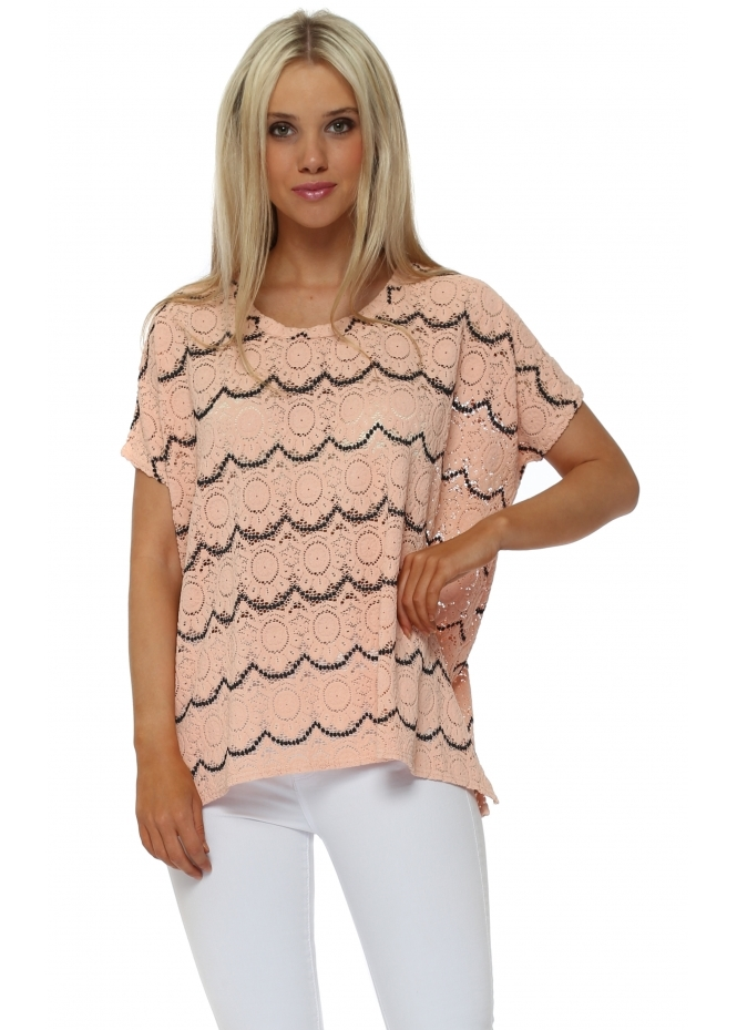 A Postcard From Brighton Maggie Seduction Medallion Lace Sleeveless Top