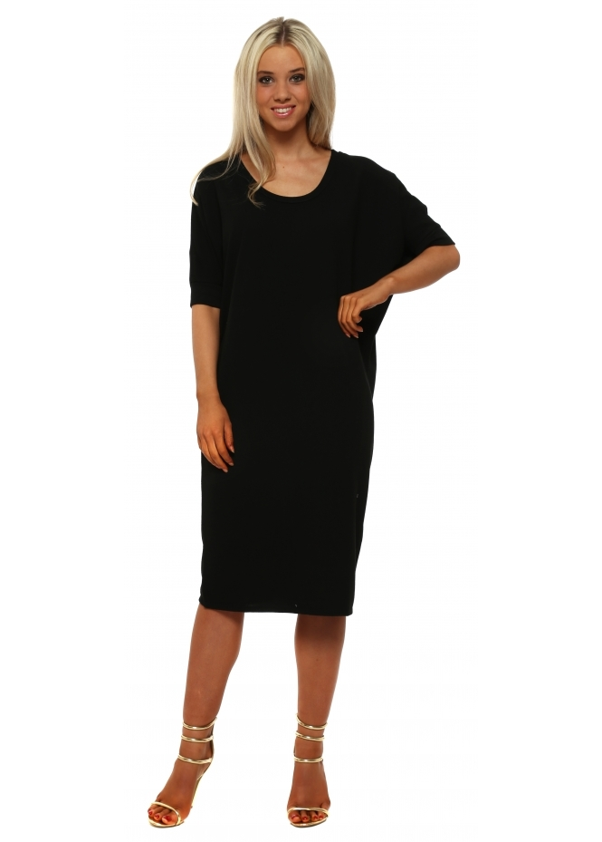 A Postcard From Brighton Callie Black Short Sleeve Tunic Dress