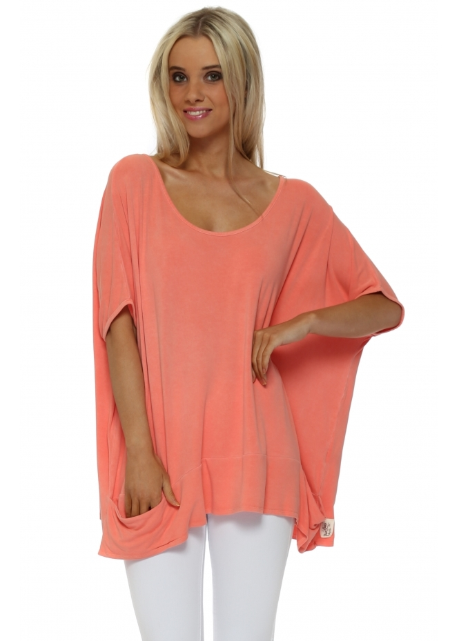A Postcard From Brighton Sleeveless Pammy Slouch Jersey Top In Melon