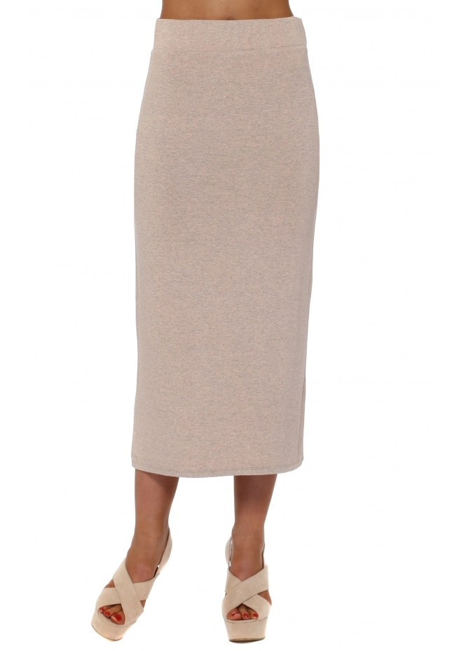 A Postcard From Brighton Mindy Seduction Melange Jersey Midi Skirt