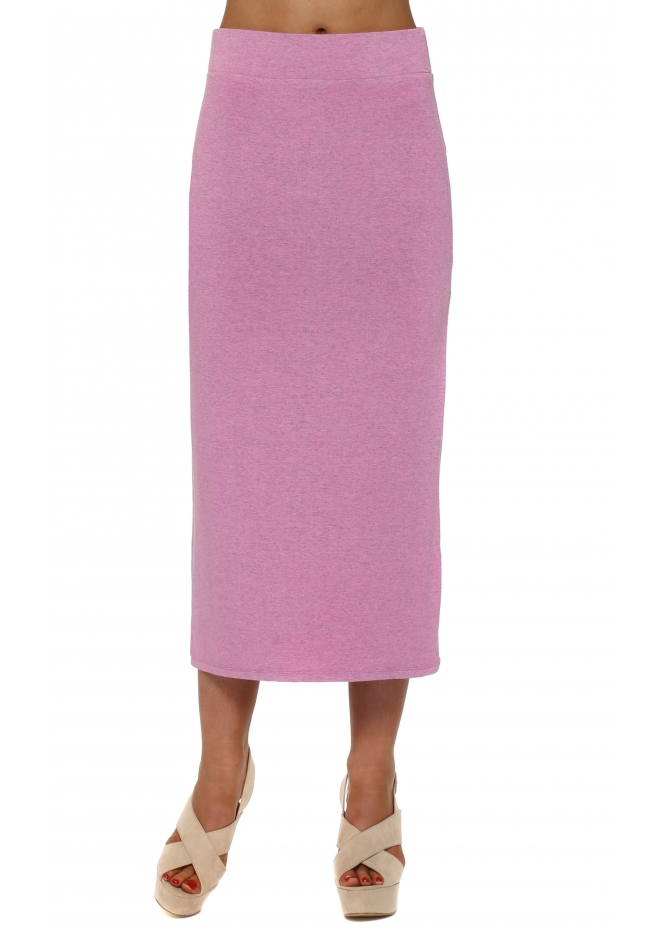 A Postcard From Brighton Mindy Passionata Melange Jersey Midi Skirt