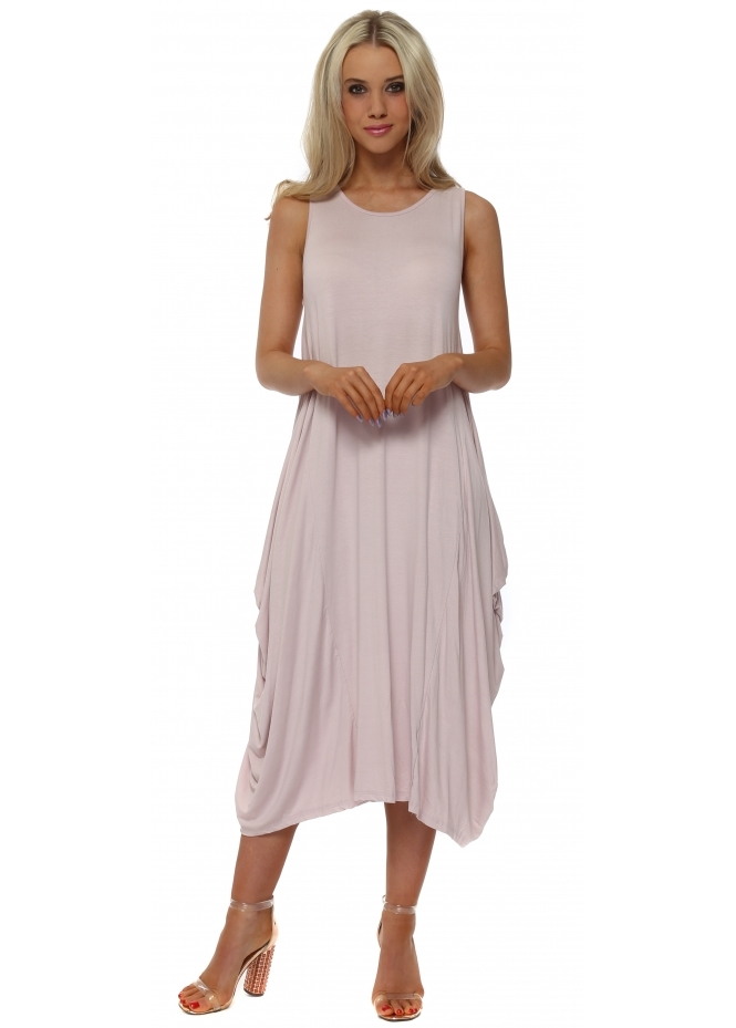 Made In Italy Baby Pink Jersey Parachute Dress