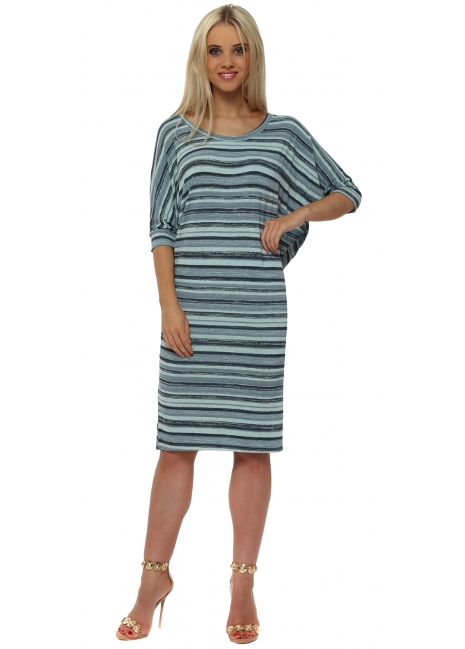 A Postcard From Brighton Olympia Paradise Blue Ombre Stripe Tunic Dress