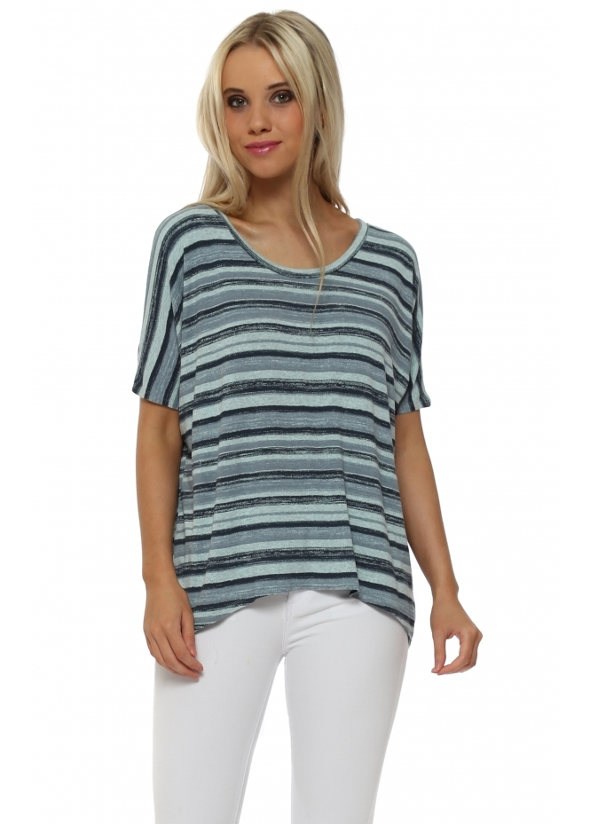 A Postcard From Brighton Oona Ombre Stripe Sleeveless Top In Paradise Blue