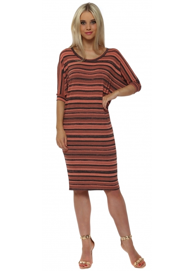 A Postcard From Brighton Olympia Melon Ombre Stripe Tunic Dress