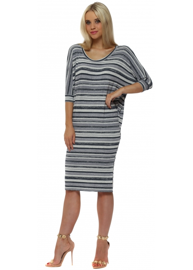 A Postcard From Brighton Olympia Vanilla Ice Ombre Stripe Tunic Dress
