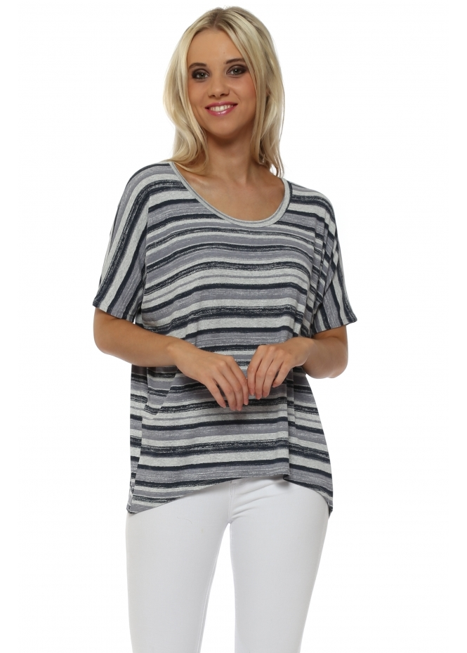 A Postcard From Brighton Oona Ombre Stripe Sleeveless Top In Vanilla Ice