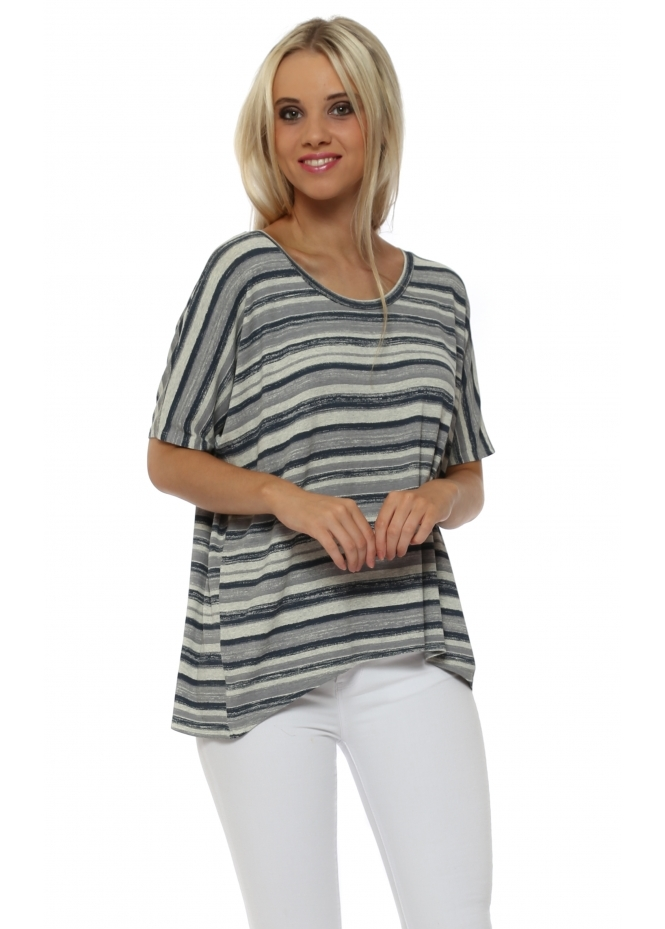 A Postcard From Brighton Oona Ombre Stripe Sleeveless Top In Colada