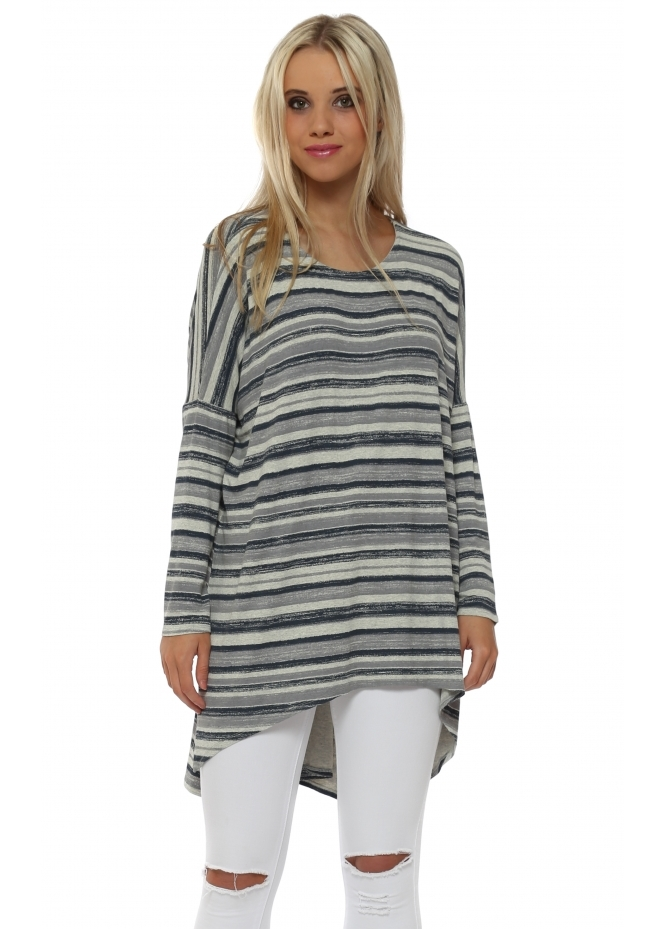 A Postcard From Brighton Odette Ombre Stripe Colada Slouch Top