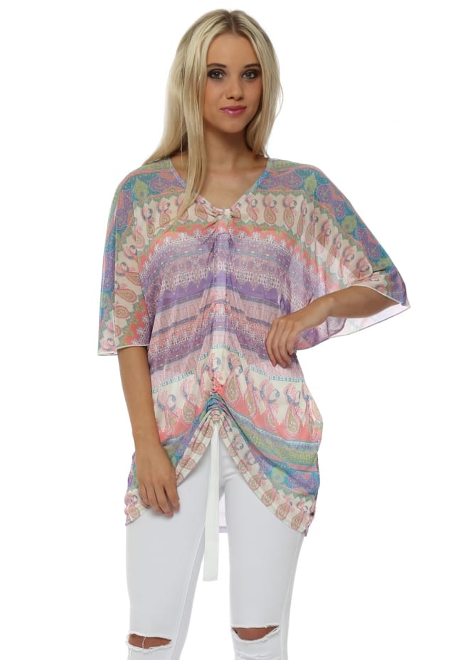 A Postcard From Brighton Mel Vanilla Marrakesh Express Chiffon Pull Top