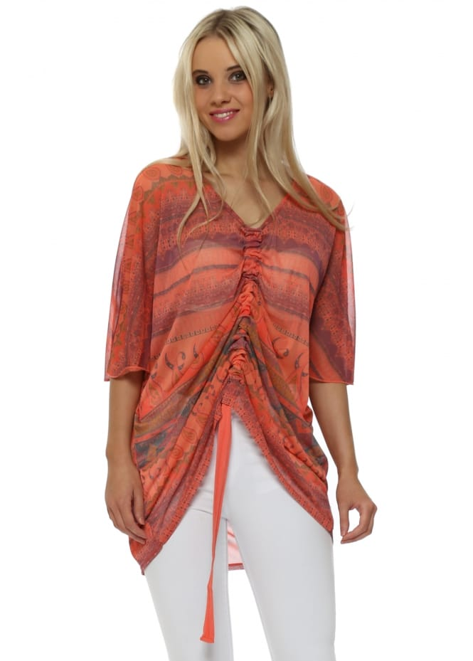 A Postcard From Brighton Mel Melon Marrakesh Express Chiffon Pull Top