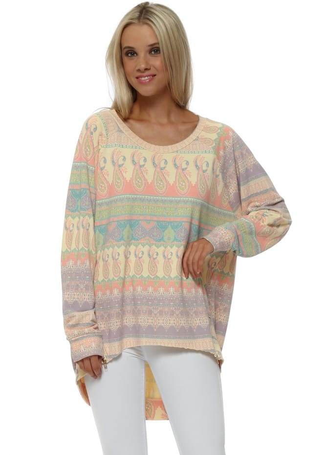 A Postcard From Brighton Maisie Marrakesh Zip Sweater In Colada