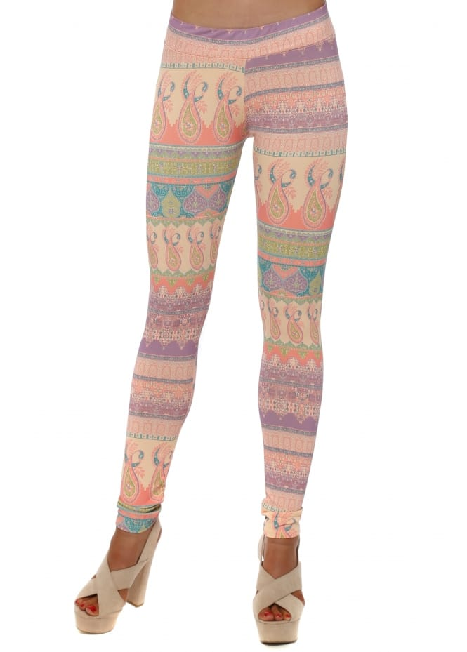 A Postcard From Brighton Mia Marrakesh Leggings In Peach Ice