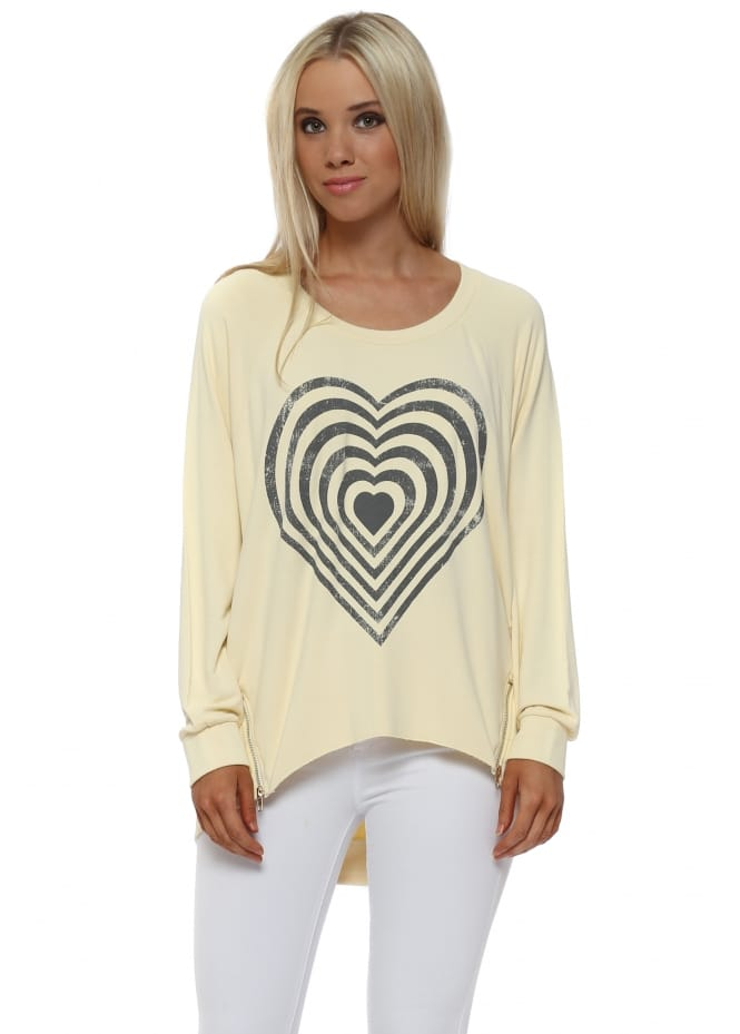 A Postcard From Brighton Colada Infinity Heart Zip Sweater