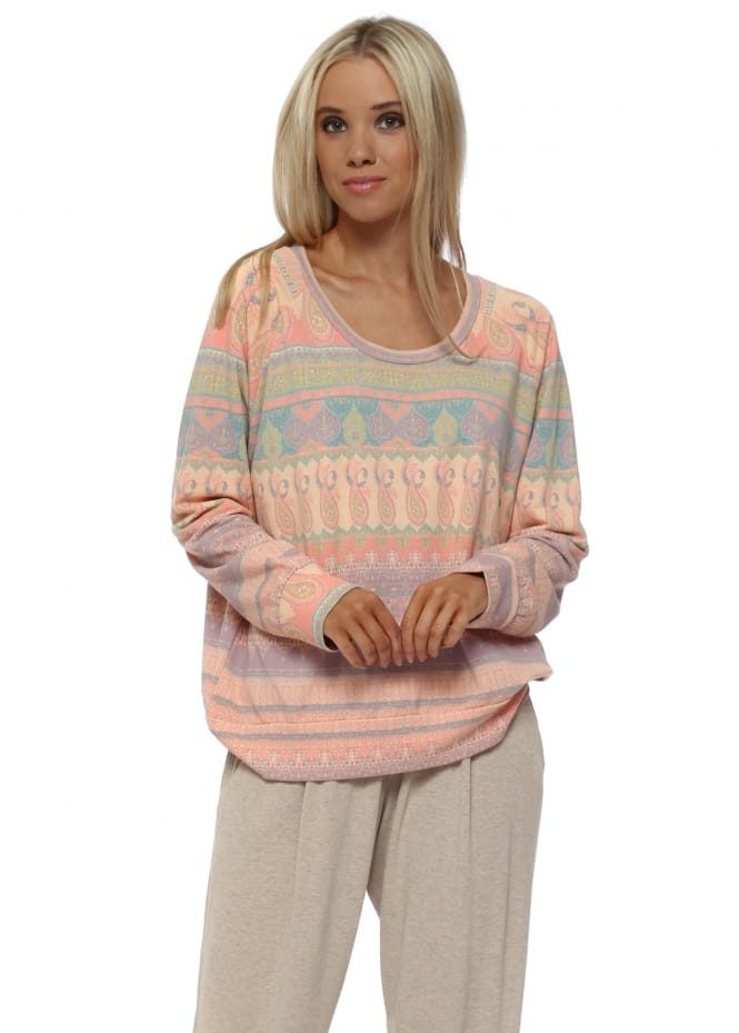 A Postcard From Brighton Minnie Marrakesh Express Sweater In Peach Ice