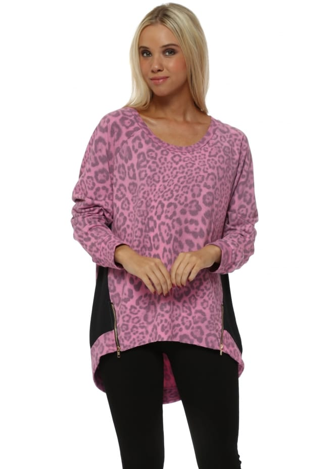 A Postcard From Brighton Passion Blaire Big Leopard Kat Zip Sweater