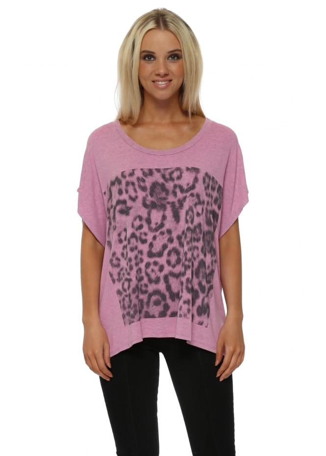 A Postcard From Brighton Giant Leopard Print Passion Melange Tunic Tee