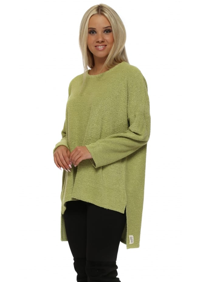 A Postcard From Brighton Chloe Coodle Step Back Tunic Top In Golden Lime