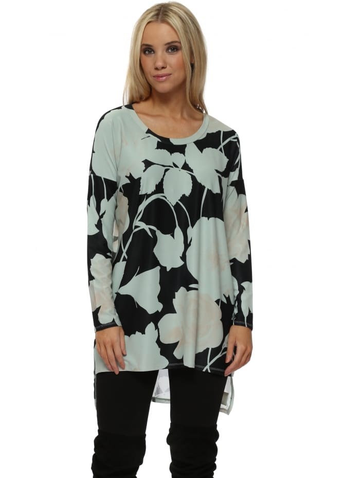 A Postcard From Brighton Bea Winter Sea Blooming Lovely Chiffon Back Tunic Top