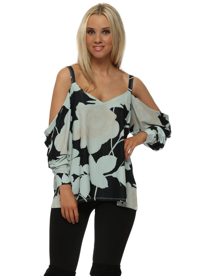 A Postcard From Brighton Becky Winter Sea Blooming Lovely Cold Shoulder Top