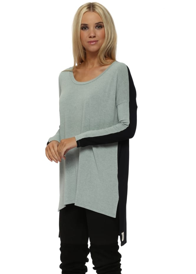 A Postcard From Brighton Frankie Two Tone Winter Sea Melange Tunic Top