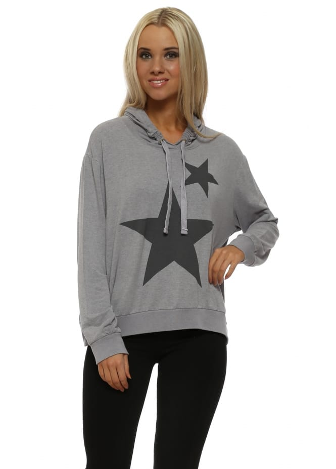 A Postcard From Brighton Dim Grey Melange Big Star Little Star Hoodie