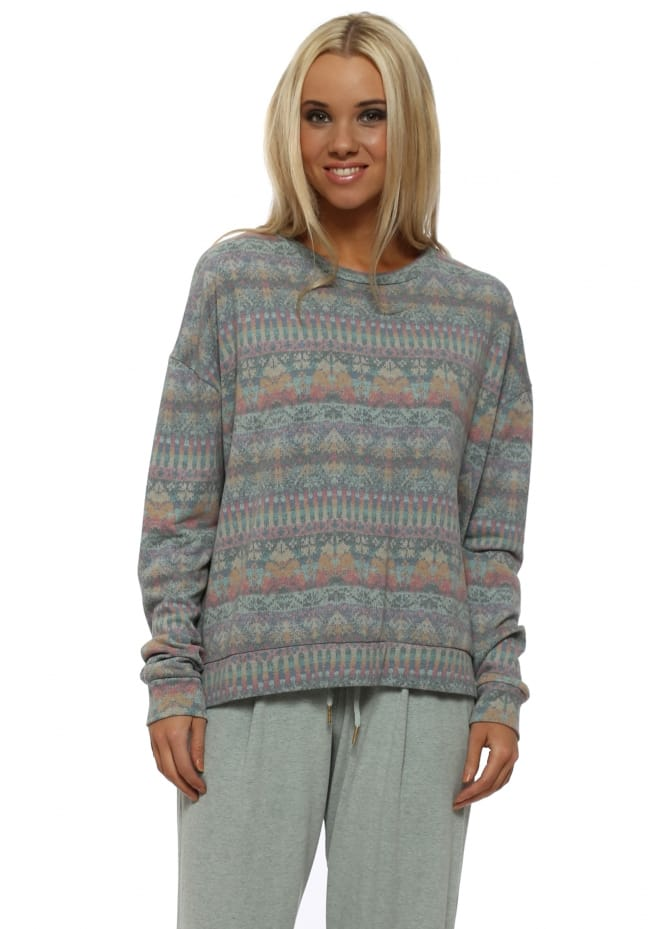 A Postcard From Brighton Faye Winter Sea Fab Fairisle Sweater