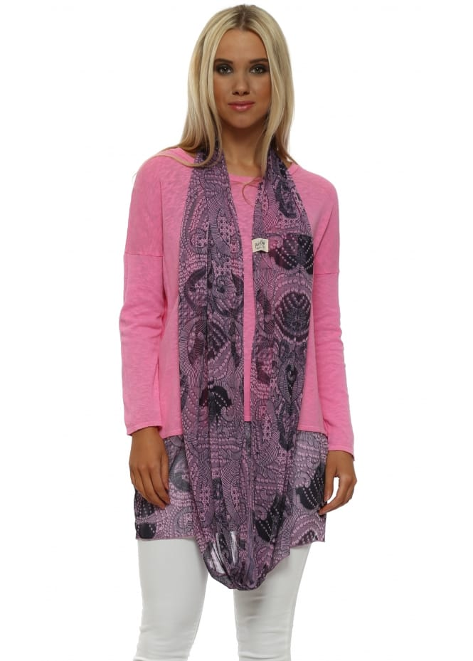A Postcard From Brighton Pinkest Luxe Luxe Chiffon Snoodie
