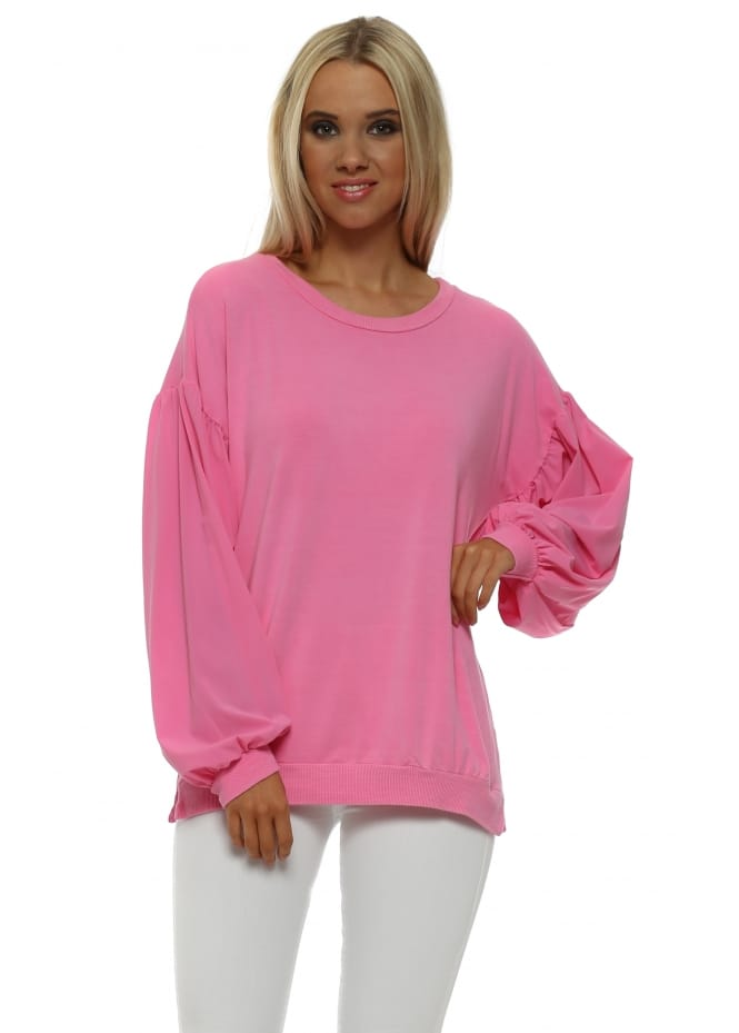 A Postcard From Brighton Connie Pinkest Silky Puffball Sleeves Sweater