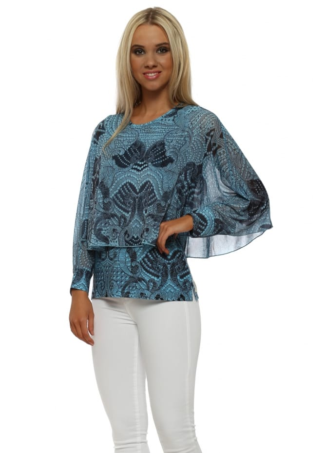 A Postcard From Brighton Lexi Sky Luxe Luxe Angel Wing Top