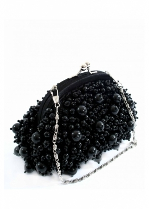 Vendula Black Bayswater Small Pearl Bag