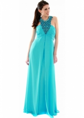 Jovani Evening Dress - Chiffon Beaded Necklace 152305