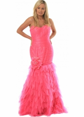 Jovani Dress Feathered Tulle Ball Gown 71562