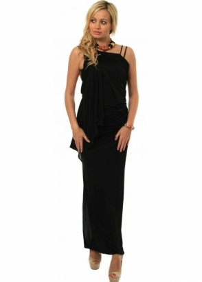 Pinko Creativo Jersey Maxi Dress Sexy Low Back