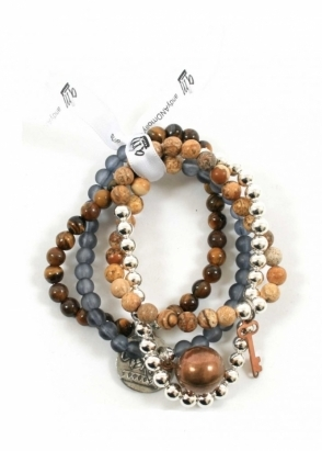 AndyANDmolly Bracelet &amp; Necklace Chameleon Earth