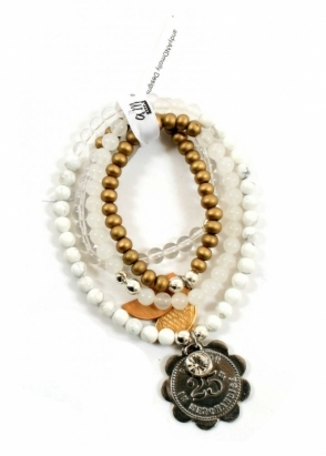 AndyANDmolly Bracelet &amp; Necklace Chameleon Cream