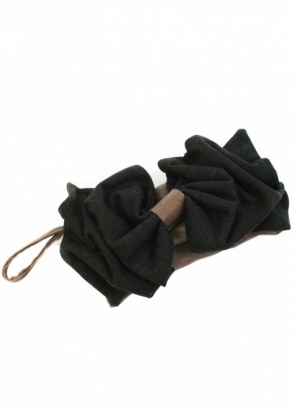 Nicola Dann Bag Tweed Bow Leather Clutch