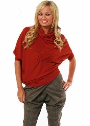 Rinascimento Jumper Asymmetric Hem Wool-Mix Batwing Sweater