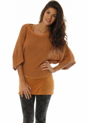 A Postcard From Brighton Jumper Ling Ling Amber Cropped Sweater