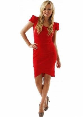 Hybrid Dress Sweetheart Pleated Cap Sleeve Dress Seen On Ola Jordan
